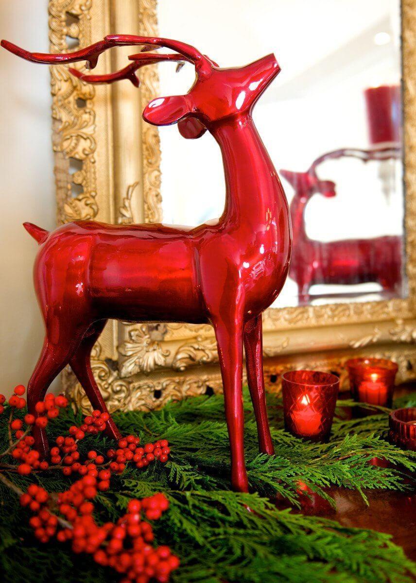 Reindeer from T. J. Maxx Homegoods. Votives from AshBlue.