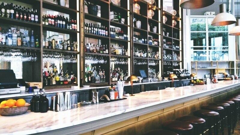 The bar at St. Cecilia