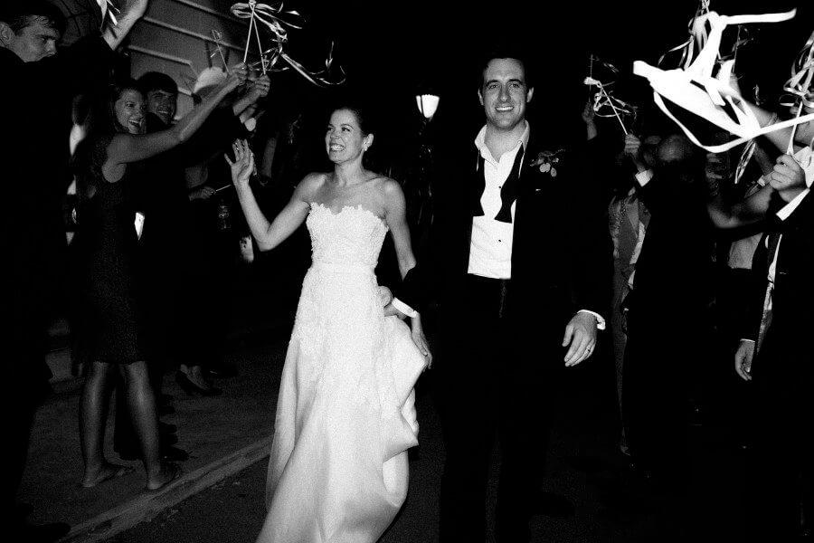 The wedding send off