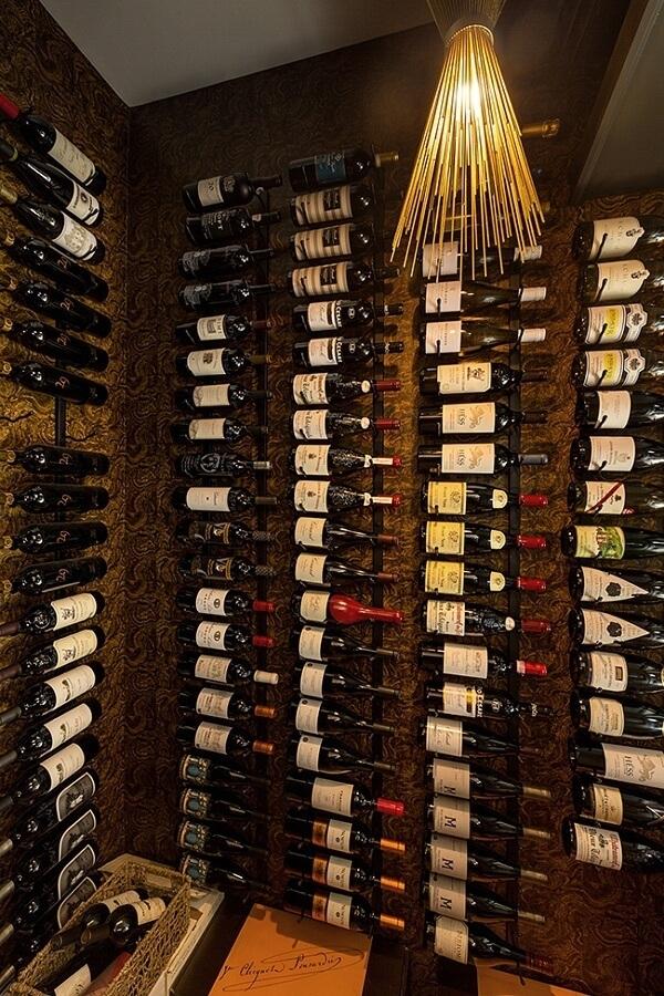 wine cellar in rural kentucky home