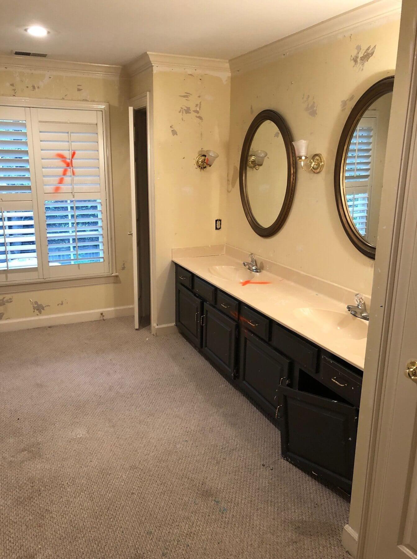 Original vanity before R. Co renovation