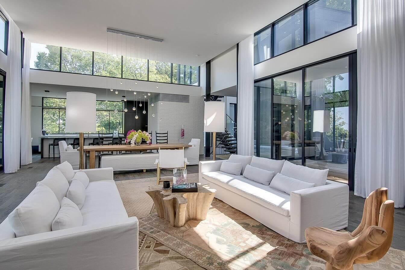 A contemporary living room design marks Epiphany Design Studio's 2020 design trend