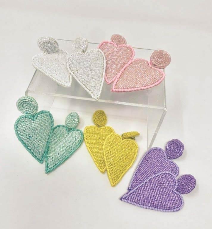 Southern FINDS February: Pastel heart earrings