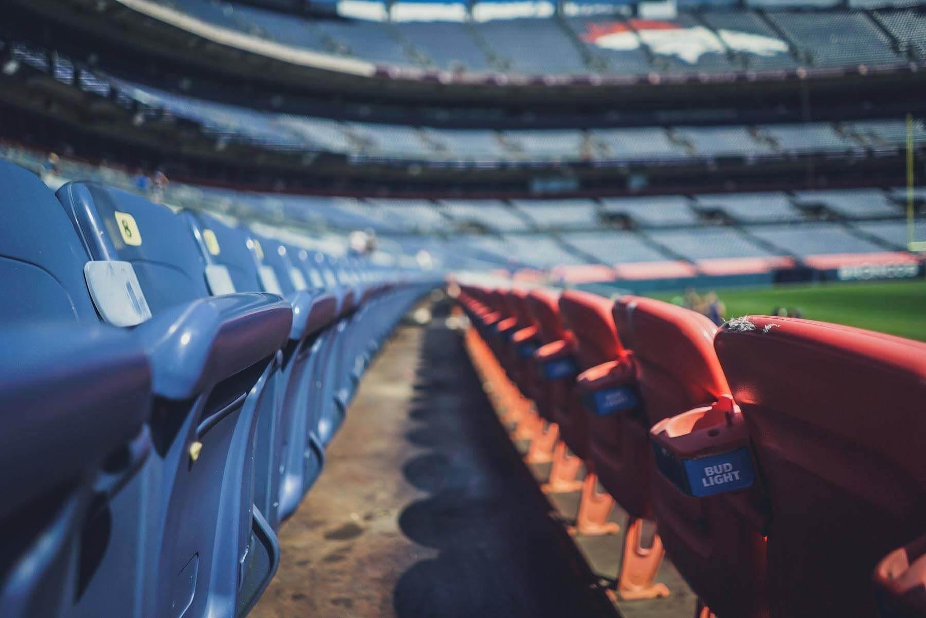 empty sports stadium