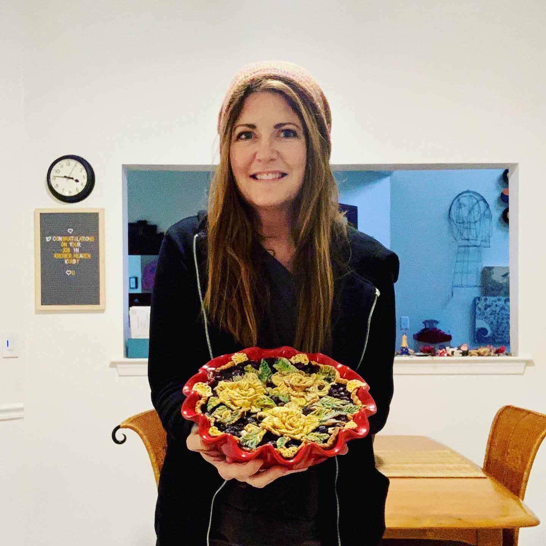 Pie artist Karen Freidt